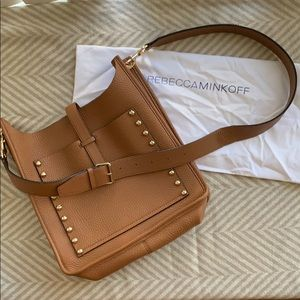 NWOT Rebecca Minkoff Studded Unlined Feed Bag